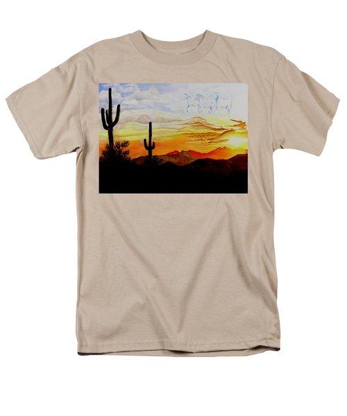 Desert Mustangs Men's T-Shirt  (Regular Fit) by Jimmy Smith