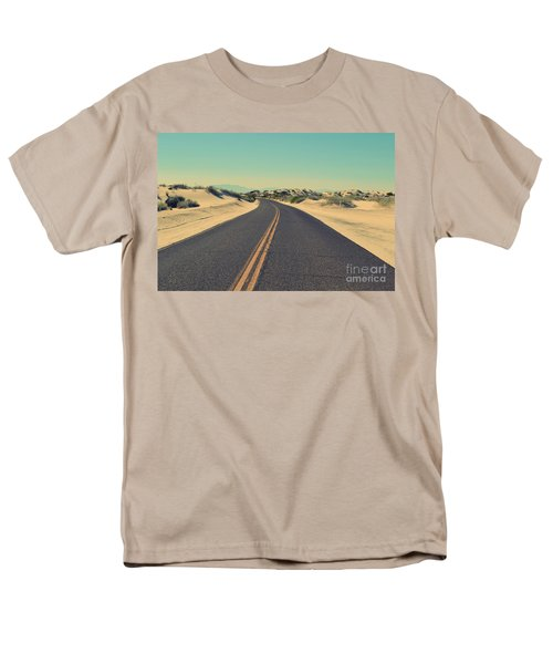 Men's T-Shirt  (Regular Fit) featuring the photograph Desert Road by MGL Meiklejohn Graphics Licensing