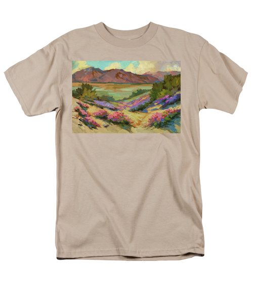 Desert Verbena At Borrego Springs Men's T-Shirt  (Regular Fit) by Diane McClary