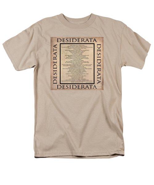 Desiderata - Spanish- Poema Escrito Por Max Ehrmann Men's T-Shirt  (Regular Fit) by Claudia Ellis