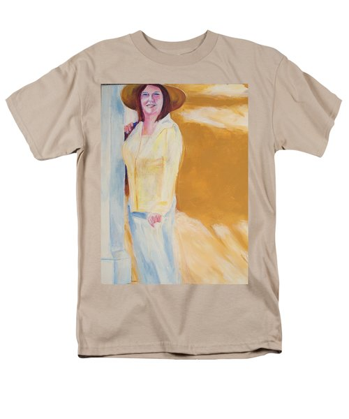 Men's T-Shirt  (Regular Fit) featuring the painting Diane by Eric  Schiabor