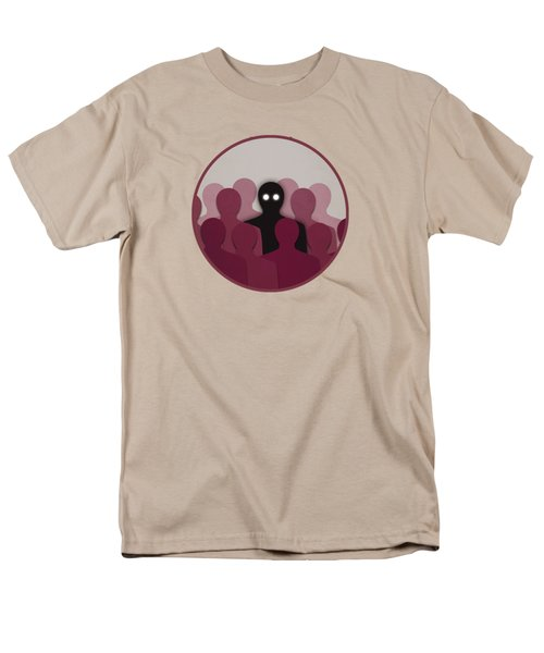 Different And Alone In Crowd Men's T-Shirt  (Regular Fit)