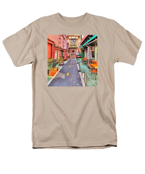 Men's T-Shirt  (Regular Fit) featuring the photograph Dink's Taxi Bar Harbor by Debbie Stahre