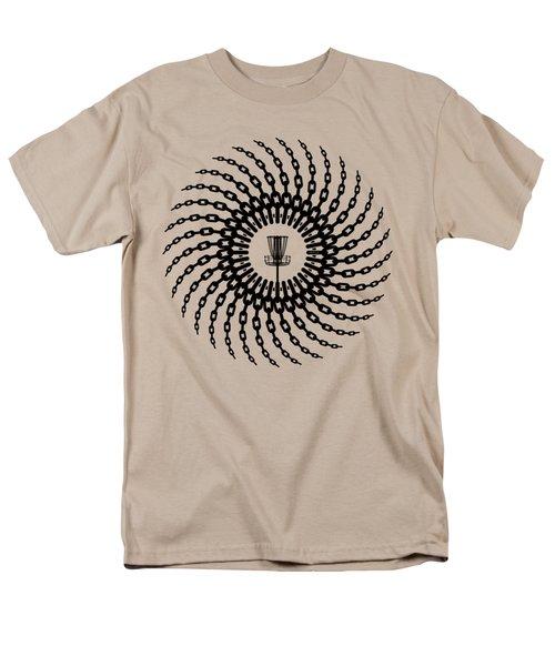 Disc Golf Basket Chains Men's T-Shirt  (Regular Fit) by Phil Perkins