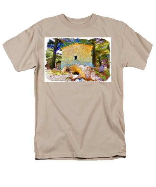 Do-00435 Building Surrounded By Cedars Men's T-Shirt  (Regular Fit) by Digital Oil