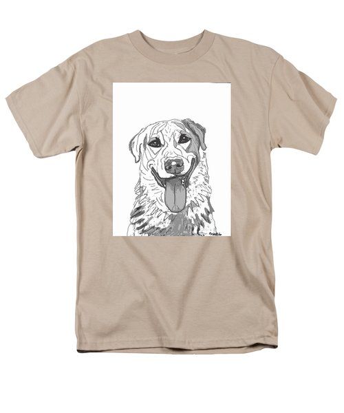 Dog Sketch In Charcoal 2 Men's T-Shirt  (Regular Fit) by Ania M Milo