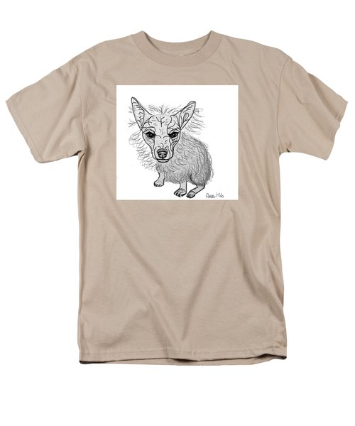 Dog Sketch In Charcoal 3 Men's T-Shirt  (Regular Fit) by Ania M Milo