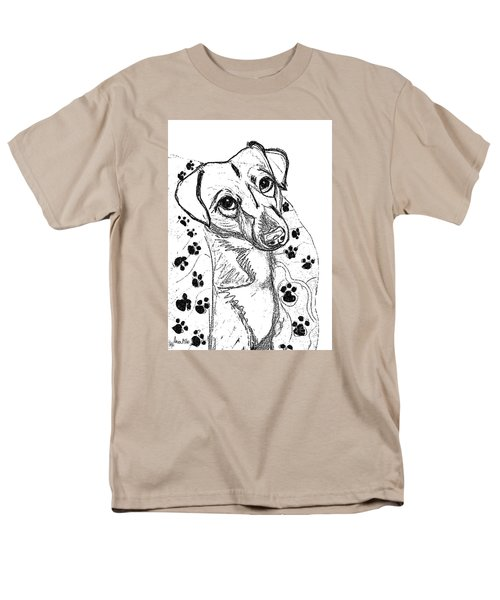 Dog Sketch In Charcoal 4 Men's T-Shirt  (Regular Fit) by Ania M Milo