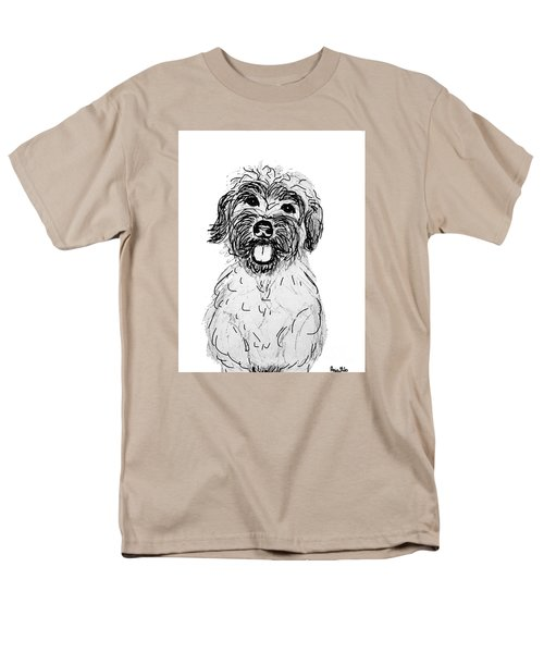 Dog Sketch In Charcoal 6 Men's T-Shirt  (Regular Fit) by Ania M Milo