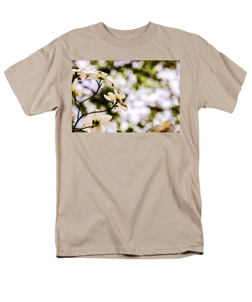 Men's T-Shirt  (Regular Fit) featuring the photograph Dogwoods Under The Pines by John Harding