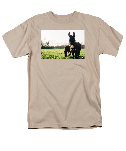 Donkey And Pony Men's T-Shirt  (Regular Fit) by Pati Photography