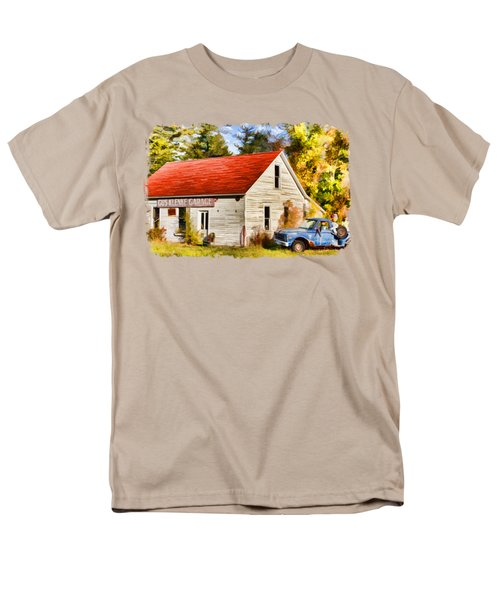 Men's T-Shirt  (Regular Fit) featuring the painting Door County Gus Klenke Garage by Christopher Arndt