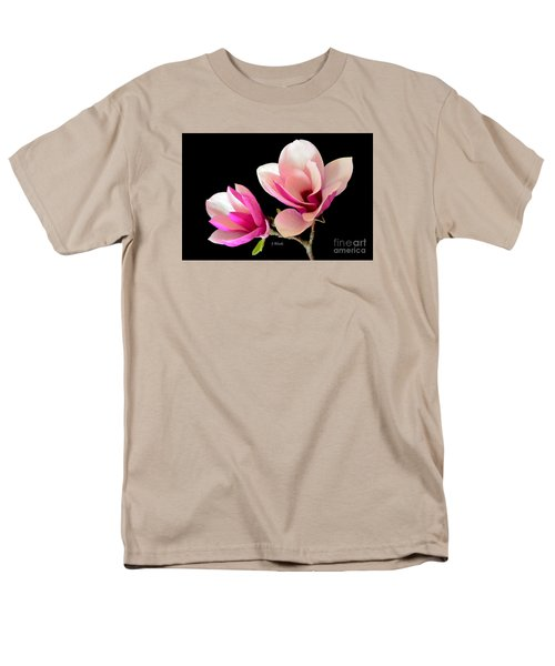 Double Magnolia Blooms Men's T-Shirt  (Regular Fit) by Jeannie Rhode