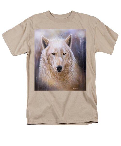 Dreamscape Wolf IIi Men's T-Shirt  (Regular Fit) by Sandi Baker