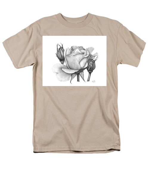 Men's T-Shirt  (Regular Fit) featuring the drawing Drum Rose by Patricia Hiltz