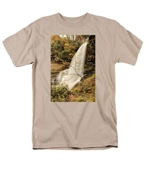 Men's T-Shirt  (Regular Fit) featuring the photograph Dry Falls In North Carolina by Penny Lisowski