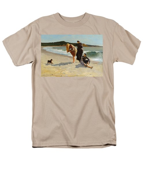 Men's T-Shirt  (Regular Fit) featuring the painting Eagle Head, Manchester, Massachusetts - 1870 by Winslow Homer
