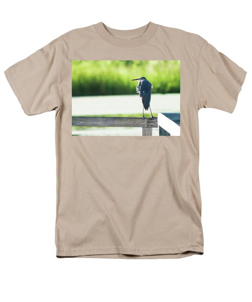 Early Morning Great Blue Heron Men's T-Shirt  (Regular Fit) by Edward Peterson