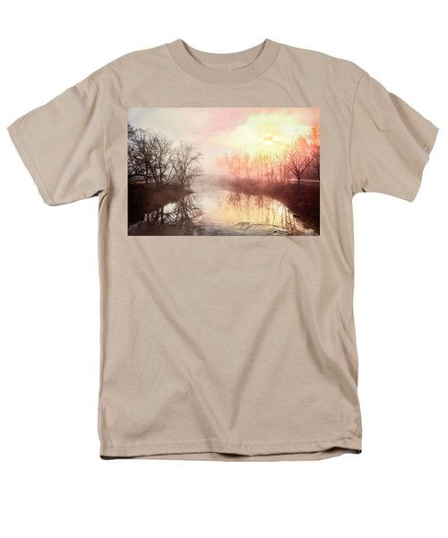 Men's T-Shirt  (Regular Fit) featuring the photograph Early Morning On The River by Debra and Dave Vanderlaan