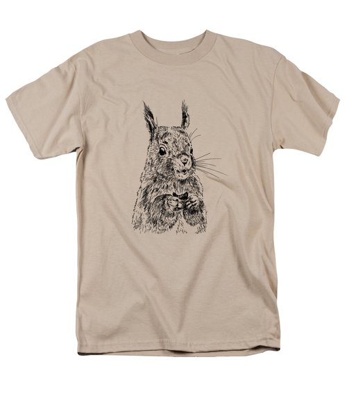 Eating Squirrel Men's T-Shirt  (Regular Fit) by Masha Batkova