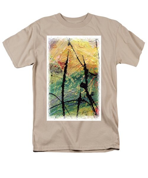Men's T-Shirt  (Regular Fit) featuring the painting Ecstasy II by Angela L Walker