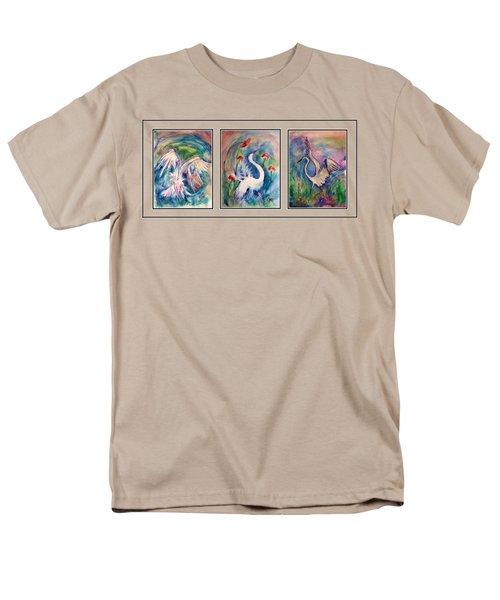 Egret Series Men's T-Shirt  (Regular Fit) by Robin Monroe
