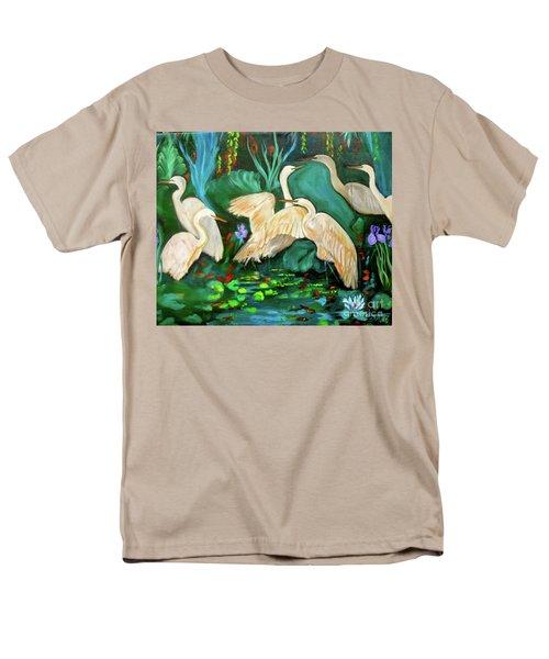 Egrets On Lotus Pond Men's T-Shirt  (Regular Fit)