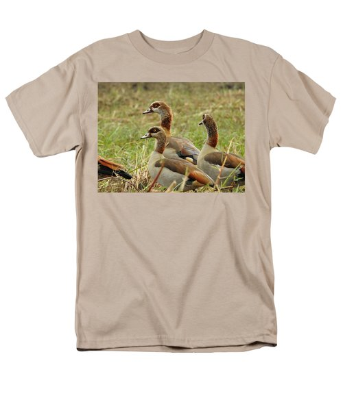 Men's T-Shirt  (Regular Fit) featuring the photograph Egyptian Geese by Betty-Anne McDonald