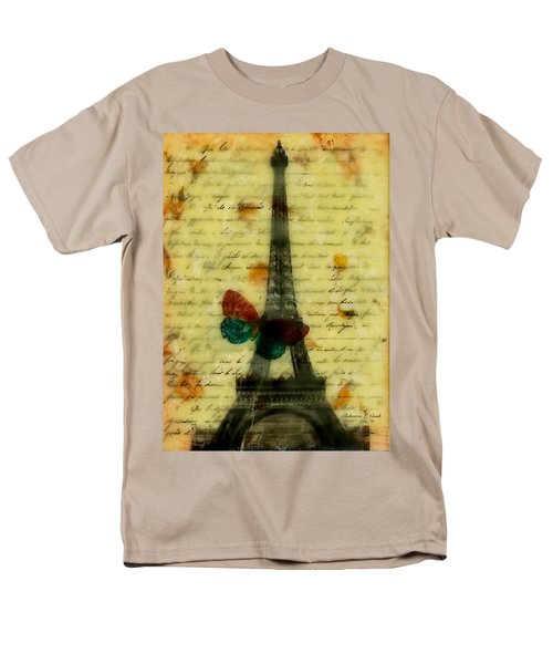 Eiffel Tower Memory Encaustic Men's T-Shirt  (Regular Fit) by Bellesouth Studio