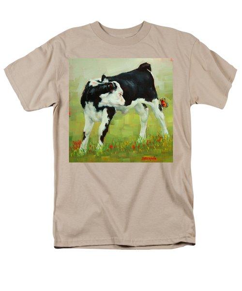 Elly The Calf And Friend Men's T-Shirt  (Regular Fit)