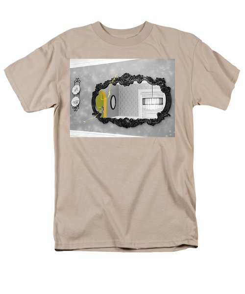Escape From The Yellow Room Men's T-Shirt  (Regular Fit) by Debra Baldwin