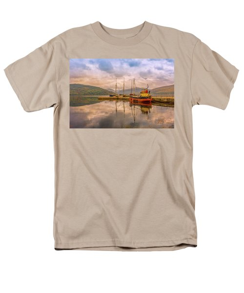 Men's T-Shirt  (Regular Fit) featuring the photograph Evening At The Dock by Roy McPeak