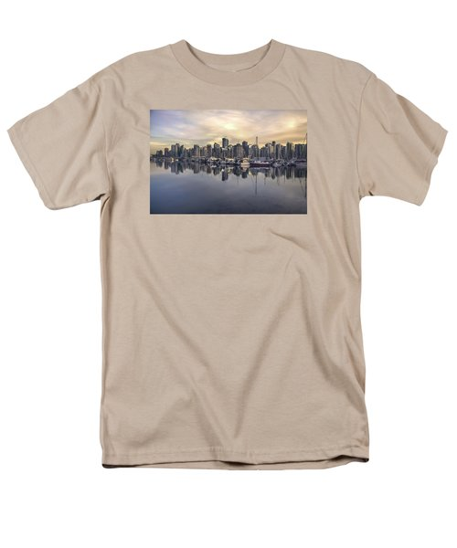 Fading Sun Over Downtown Vancouver Men's T-Shirt  (Regular Fit) by Sabine Edrissi