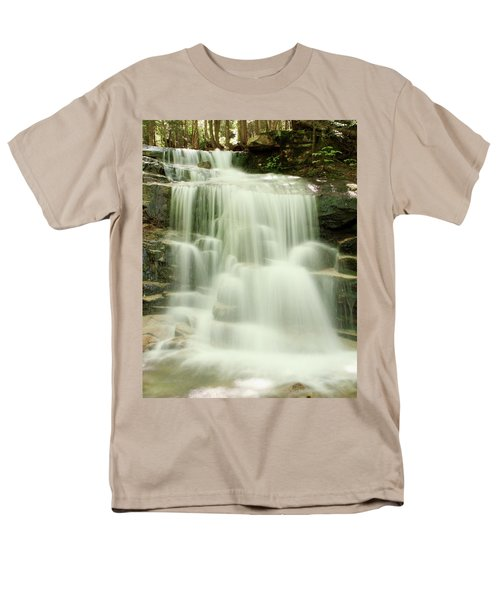 Men's T-Shirt  (Regular Fit) featuring the photograph Falling Waters by Roupen  Baker