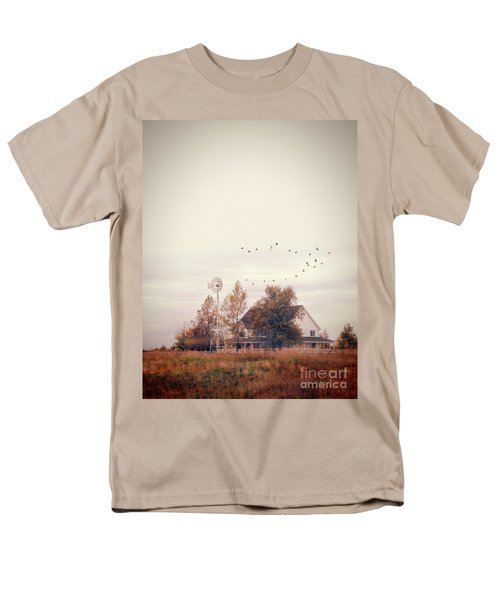 Men's T-Shirt  (Regular Fit) featuring the photograph Farmhouse And Windmill by Jill Battaglia
