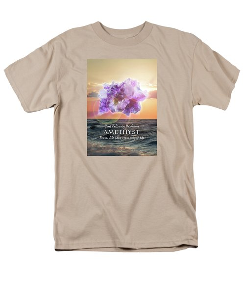 February Birthstone Amethyst Men's T-Shirt  (Regular Fit)