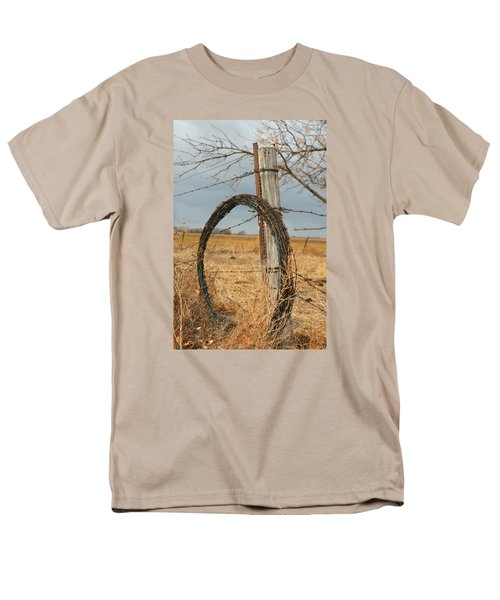 Men's T-Shirt  (Regular Fit) featuring the photograph Fencing With My Dad by Shirley Heier