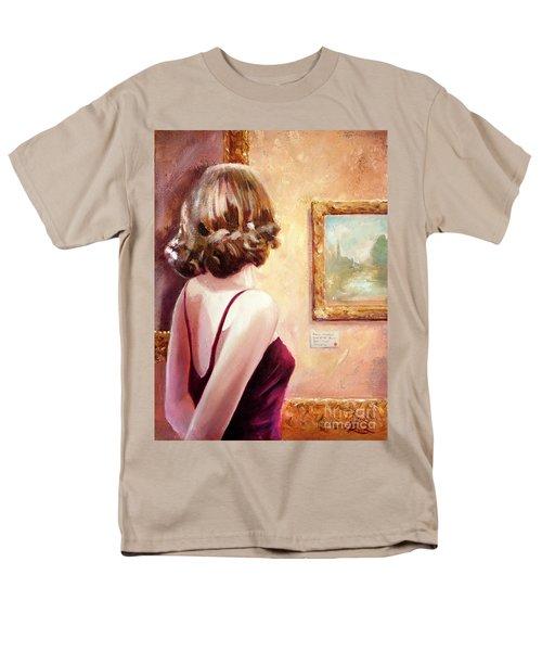 Fine Art Gallery Opening Night Men's T-Shirt  (Regular Fit) by Michael Rock