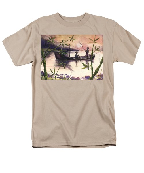 Fishing In The Sunset   Men's T-Shirt  (Regular Fit) by Alban Dizdari