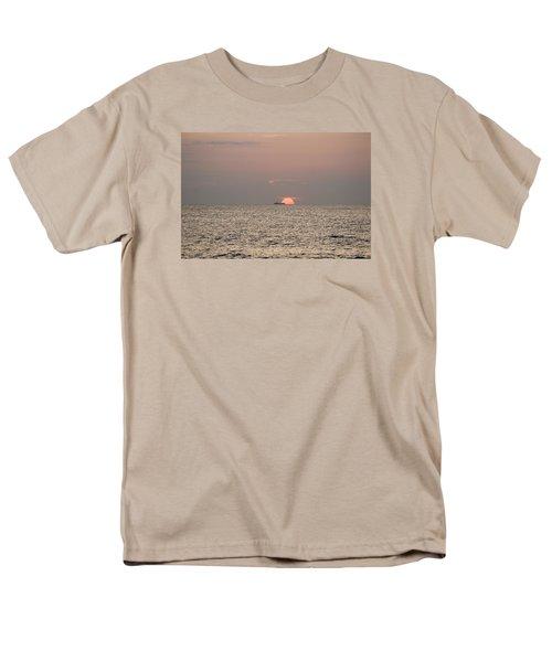 Men's T-Shirt  (Regular Fit) featuring the photograph Fishing Trawler Sunrise by Robert Banach