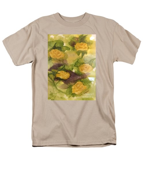 Five Yellow Roses Men's T-Shirt  (Regular Fit) by Lucia Grilletto