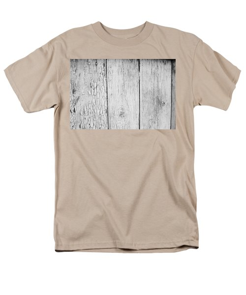 Men's T-Shirt  (Regular Fit) featuring the photograph Flaking Grey Wood Paint by John Williams