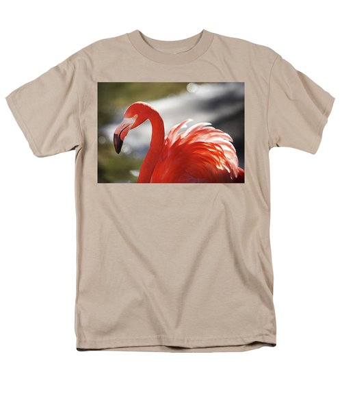 Men's T-Shirt  (Regular Fit) featuring the photograph Flamingo 2 by Marie Leslie