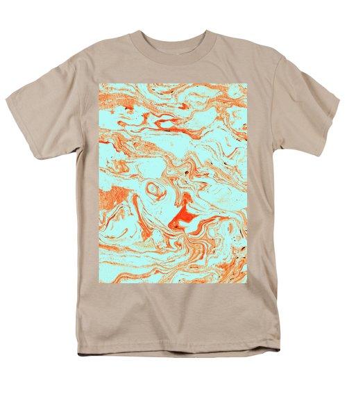 Flamingo And Sea Marble Men's T-Shirt  (Regular Fit) by Uma Gokhale