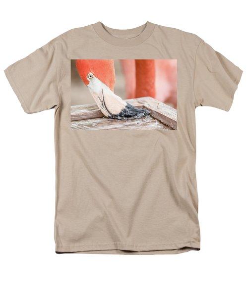 Flamingo At Sea World In Orlando Florida Men's T-Shirt  (Regular Fit) by Peter Ciro