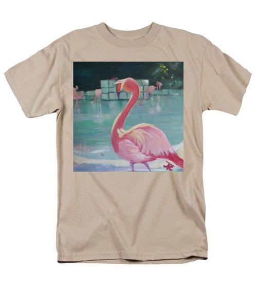 Flamingo Men's T-Shirt  (Regular Fit) by Julie Todd-Cundiff