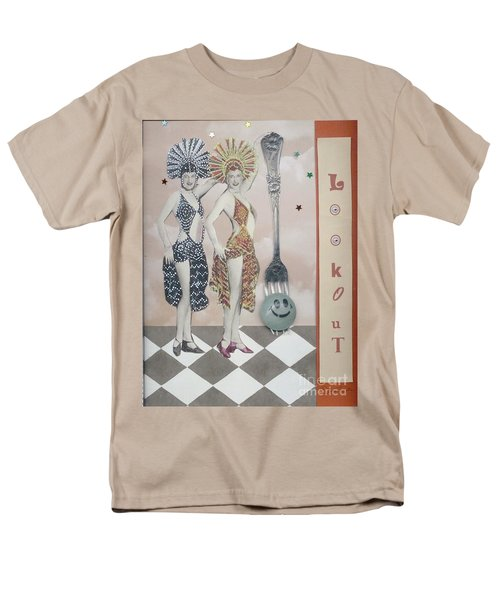 Men's T-Shirt  (Regular Fit) featuring the mixed media Fling by Desiree Paquette