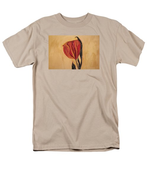 Men's T-Shirt  (Regular Fit) featuring the painting Flor Del Alma by The Art Of Marilyn Ridoutt-Greene