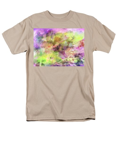 Floral Pastel Abstract Men's T-Shirt  (Regular Fit) by Mikki Cucuzzo
