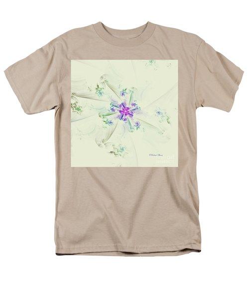 Men's T-Shirt  (Regular Fit) featuring the digital art Floral Spiral by Deborah Benoit